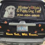 Black 4-Runner with the Whiskers Nails and Puppy Dog Tails logo